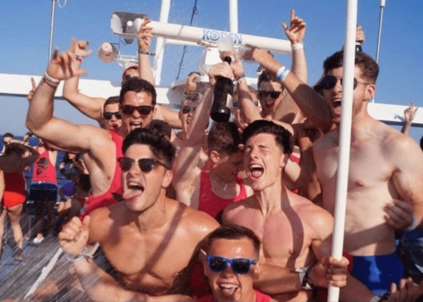 zante champagne showers on vvip yacht party