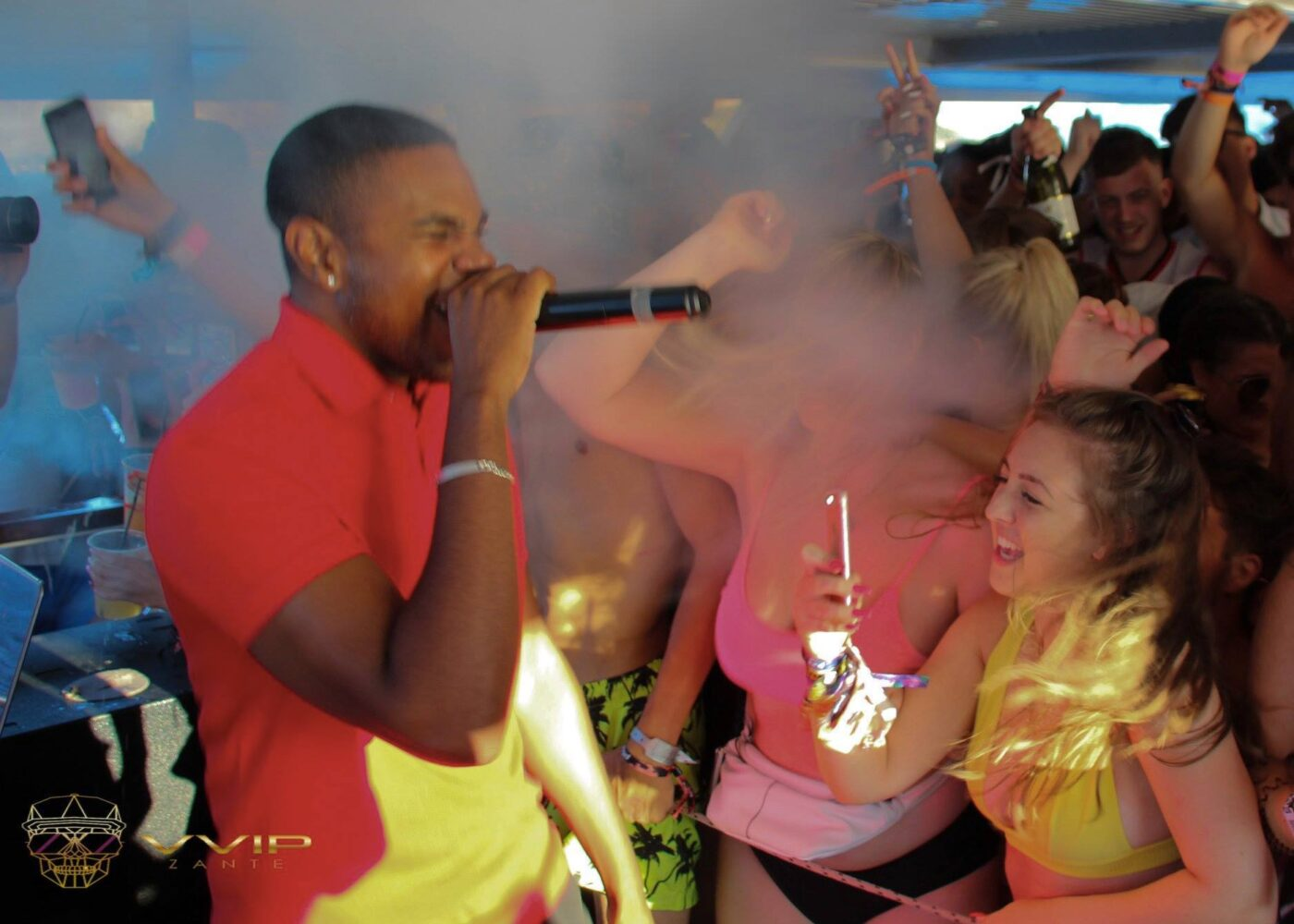 ramz performing on vvip zante boat party